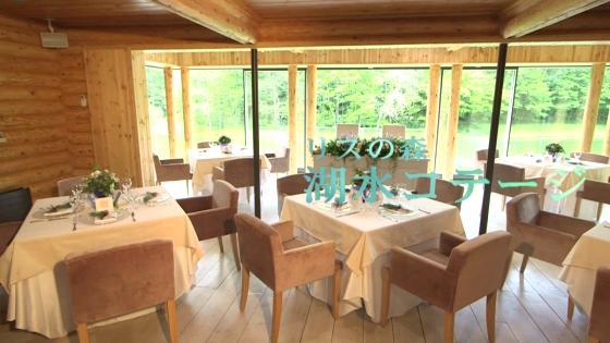 窓ガラスに広がる、北欧のように美しい湖と森の景色は豊かな森に溶け込む湖上の別荘 THE NIDOM RESORT WEDDING