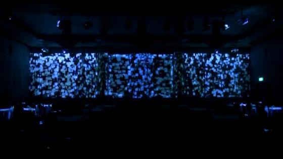 """最新映像演出""""プロジェクションマッピング""""で会場内に驚きと感動の声を ホテルクラウンパレス浜松"""