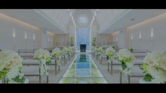 ガラスのバージンロードが美しい白亜の独立型チャペルで叶える感動のセレモニー THE MARCUS SQUARE KOBE (ザ マーカススクエア 神戸)