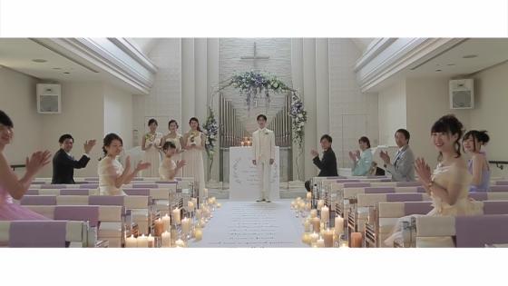 太陽光降り注ぐ純白のチャペルを好きな花々で彩って、ゲストに誓う人前式【KIZUNA】 RIVER SIDE HOTEL NUMAZU(沼津リバーサイドホテル)